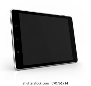 tablet side view mockup isolated white background with clipping path