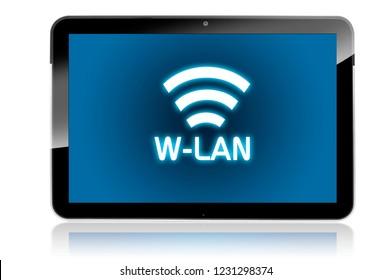 Tablet with wlan symbole