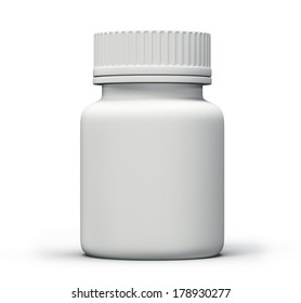 tablets bottle isolated on a white background