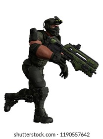 tactical army man cartoon in white background. This guy will put some fun in yours creations, 3d illustrations