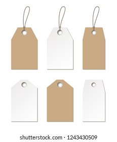 Tags mock up. Set of empty labels templates. Raster version