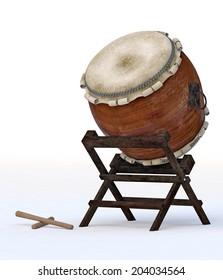 Taiko instrument isolaetd
