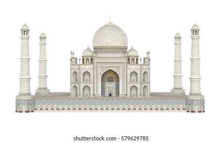 Taj Mahal Isolated. 3D rendering