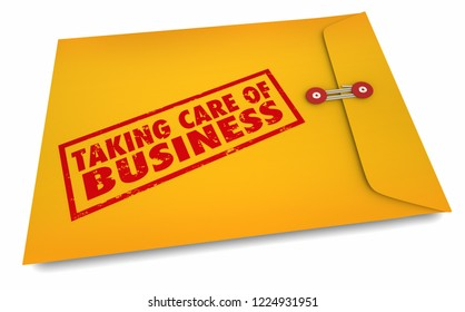 Taking Care of Business Envelope Get Things Done 3d Illustration