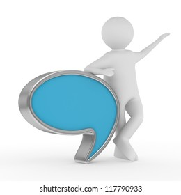 talk balloon on white background. Isolated 3D image