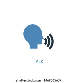 talk concept 2 colored icon. Simple blue element illustration. talk concept symbol design. Can be used for web and mobile UI/UX