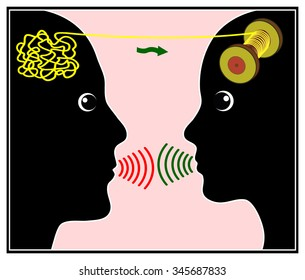 Talk Therapy. Person having conversation with therapist getting his personal problems sorted out
