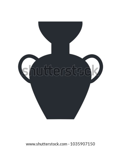 Tall Clay Ancient Greek Vase Broad Stock Illustration 1035907150