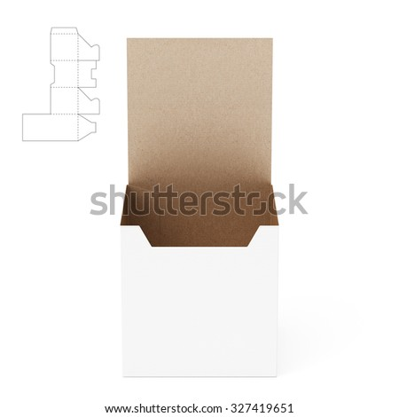Tall Counter Display Box With Die Line Template