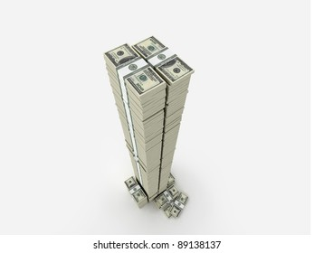 Tall tower of money