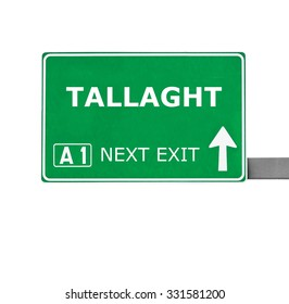 TALLAGHT road sign isolated on white
