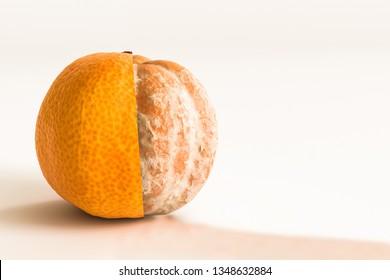 tangerine isolated on white background 3d illustration