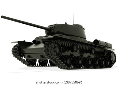 Tank isolated on white background. 3D rendering.