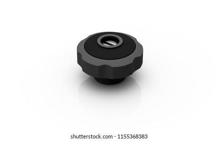 tank lid black on white background 3d illustration