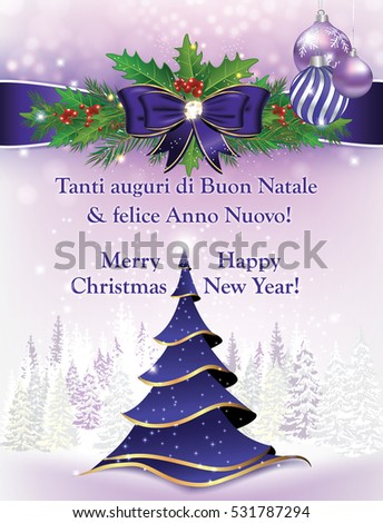 Uguri Di Buon Natale.Royalty Free Stock Illustration Of Tanti Auguri Di Buon Natale