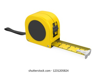Tape Measure Isolated. 3D rendering