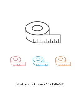 Tape measurement icon set symbol logo template. illustration