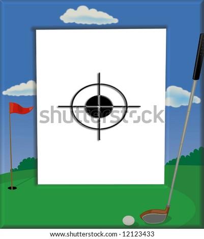 Target Golf Frame Sport Fans Everywhere Stock Illustration 12123433 ...