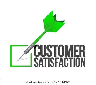 target good customer service concept illustration design over white