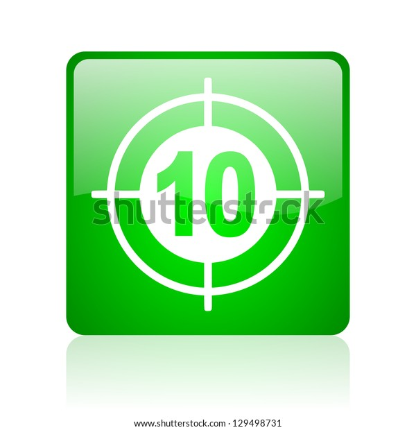 target green square web icon on white background