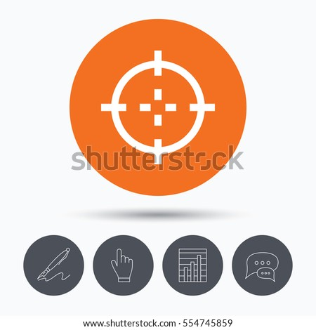 target icon crosshair aim symbol 450w 554745859 royalty free stock illustration of target icon crosshair aim symbol