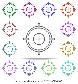 target icon. Elements of finance in multi color style icons. Simple icon for websites, web design, mobile app, info graphics