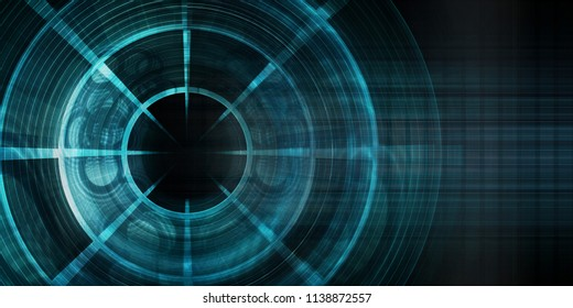Targeted Marketing Abstract Background as Concept Art