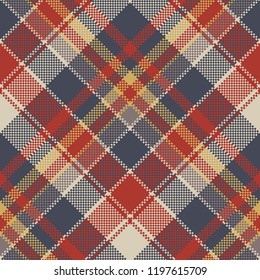 Tartan coarse fabric texture seamless pattern.