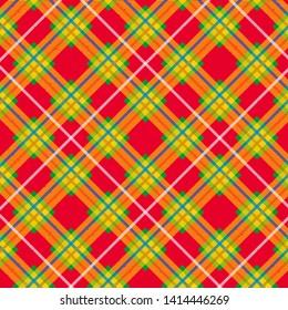 Tartan pattern. Scottish plaid. Scottish cage. Scottish checkered background. Traditional ornament.