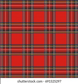 Tartan Plaid raster Pattern Background with Fabric Texture