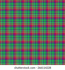 Tartan seamless pattern with green blue and red color