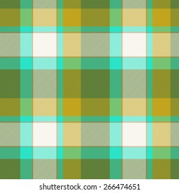 Tartan seamless pattern with green, brown and white color