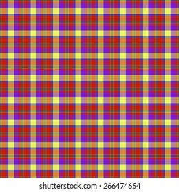 Tartan seamless pattern with yellow, blue and red color