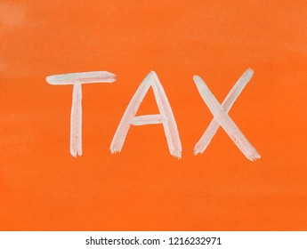 tax concept word background gouache paint texture
