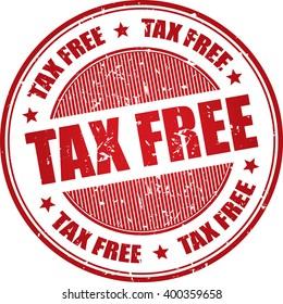 Tax free grunge stamp.