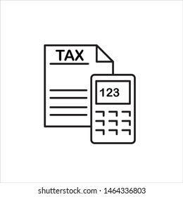 Tax payment outline icon.Element In Trendy Style.