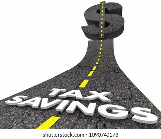 Tax Savings Road Deduction Loophole Words 3d Render Illustration