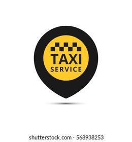 Taxi, cab vector logo, design. Taxi point graphic icon. Raster version