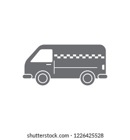 Taxi minivan icon. Simple element illustration. Taxi minivan symbol design from Transport collection set. Can be used for web and mobile