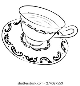 Tea cup and saucer sketch