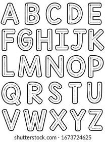 Teacher Font Trace Letter Formation