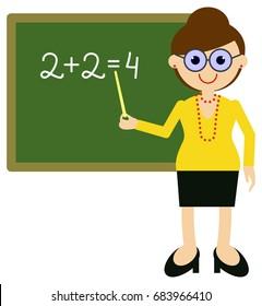 teacher near blackboard raster clip art stock illustration 683966467 rh shutterstock com free clipart of teachers teaching clipart of teacher teaching
