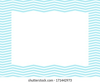 Teal Chevron Frame Background with center isolated for copy-space, Teal Chevron Frame