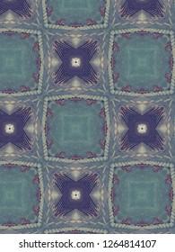 Teal and purple geometrics!
