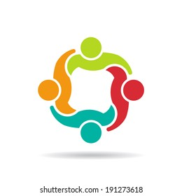 Team 4 council.Concept group of people united, social guys, partners