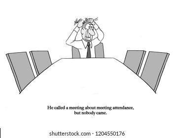 Team leader is alone in meeting