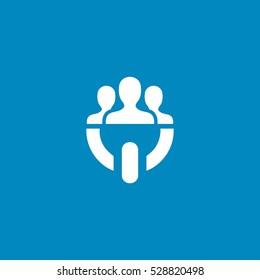 team power icon, on white background
