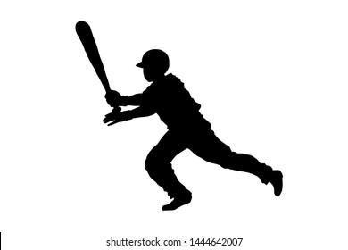 team sports illustration baseball player