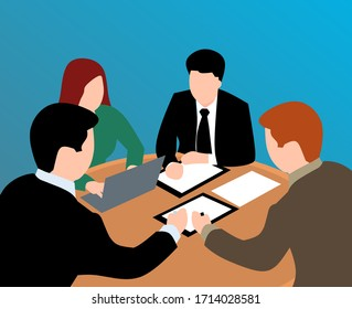 team work Business meeting illustration