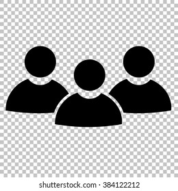Team work sign. Flat style icon on transparent background